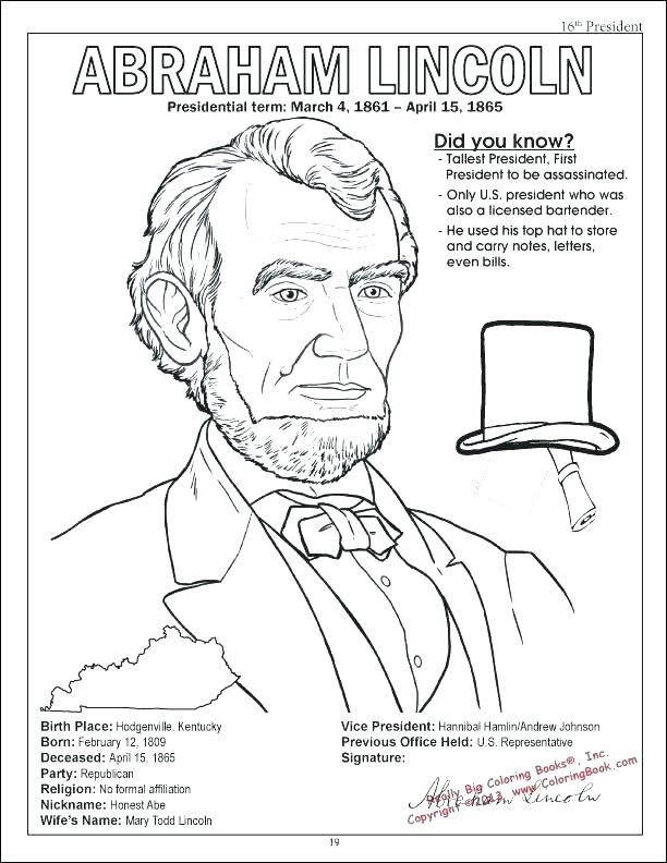 612x792 Abraham Lincoln Coloring Page S S Abraham Lincoln Coloring Pages