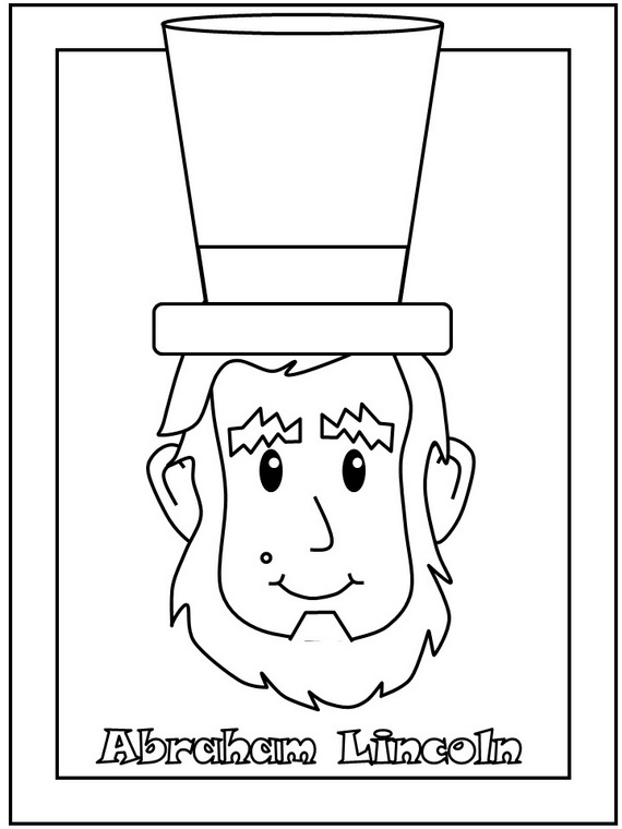570x760 Abraham Lincoln Coloring Pages