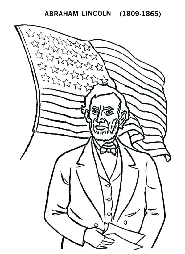 600x821 Abraham Lincoln Coloring Sheets S S Abraham Lincoln Free Printable