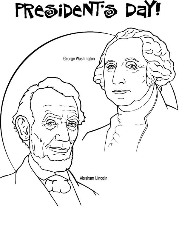 600x767 George Washington And Abraham Lincoln For Presidents Day Coloring