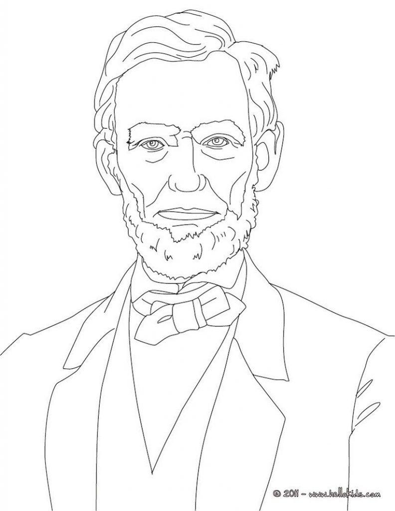 792x1024 Impressive Abraham Lincoln Coloring Page