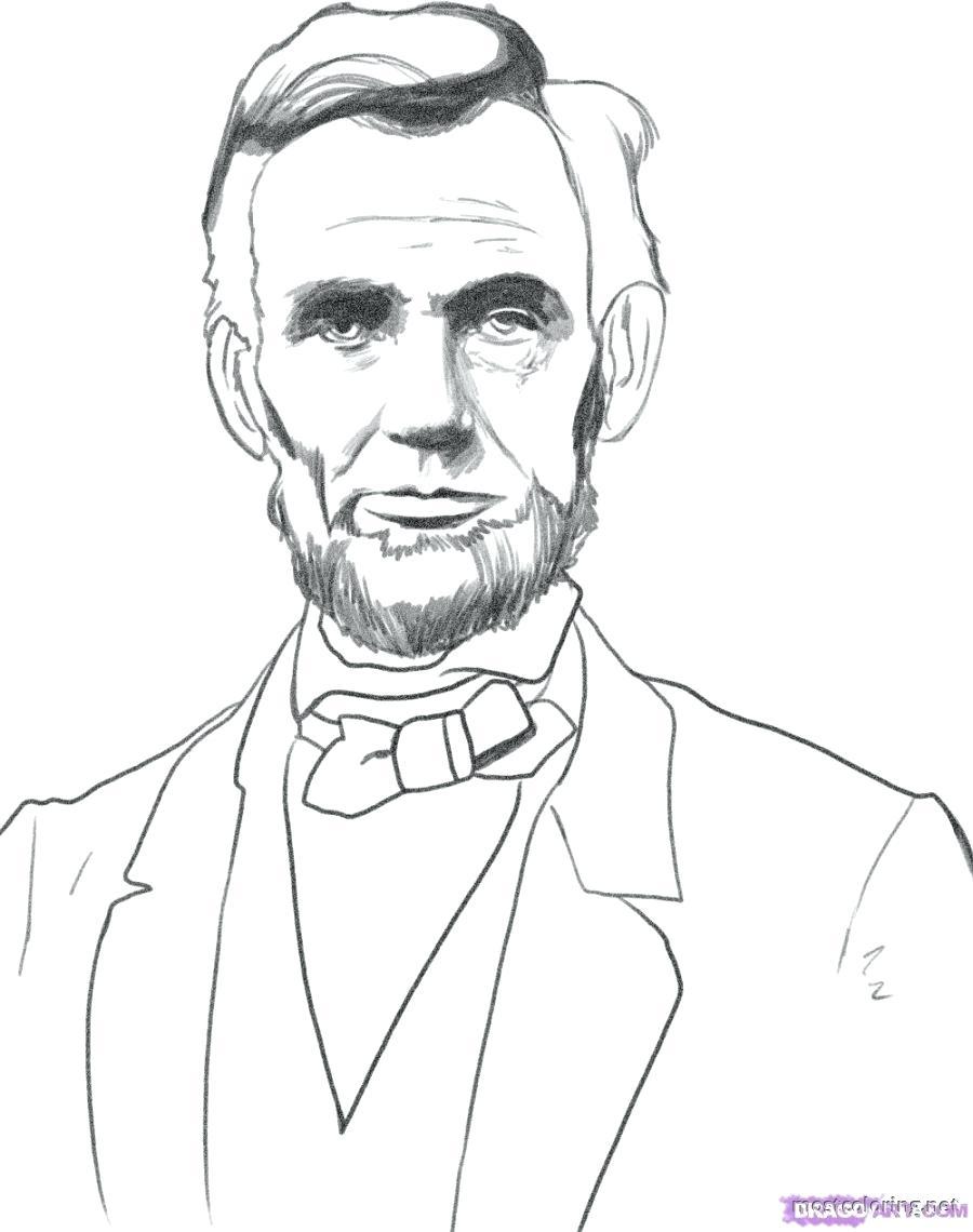 900x1140 Strange Abraham Lincoln Coloring Page Me