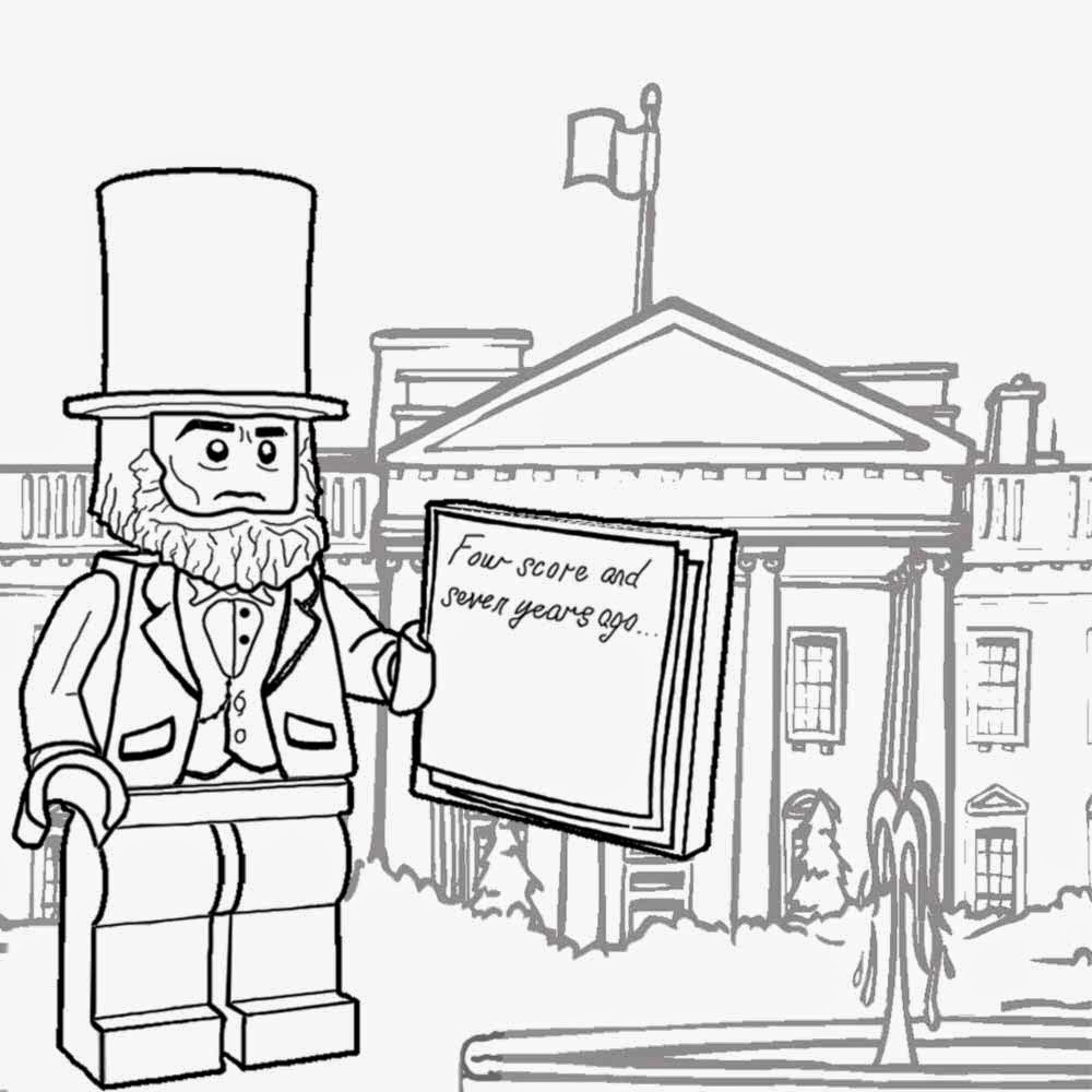 1000x1000 White House Coloring Page With White House Coloring Page