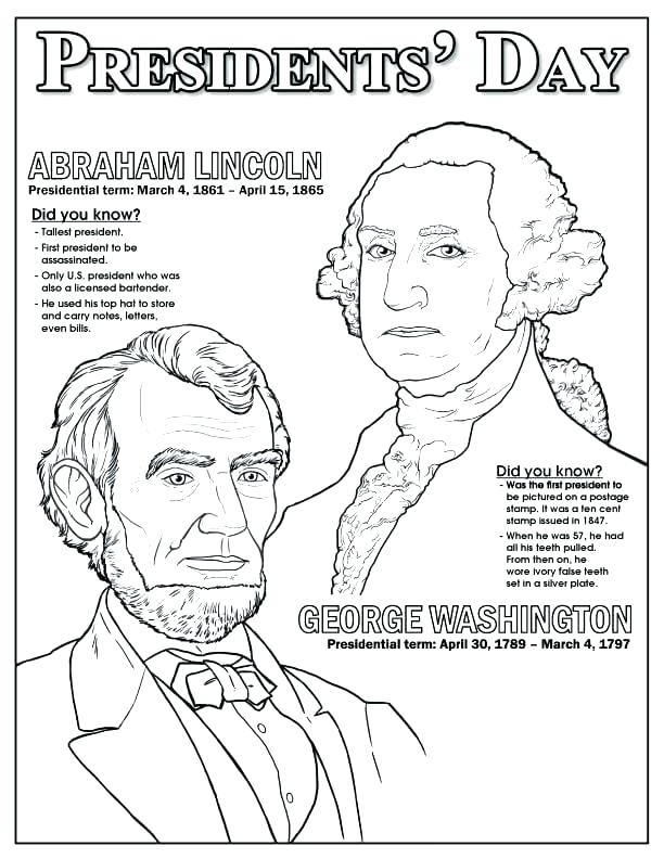 612x792 Abe Lincoln Coloring Page