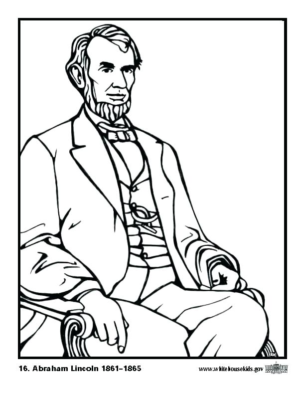 612x792 Abraham Lincoln Coloring Pages Printable Abraham Lincoln Coloring