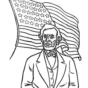 300x300 Click The Abraham Lincoln Log Cabin Coloring Stunning Abraham