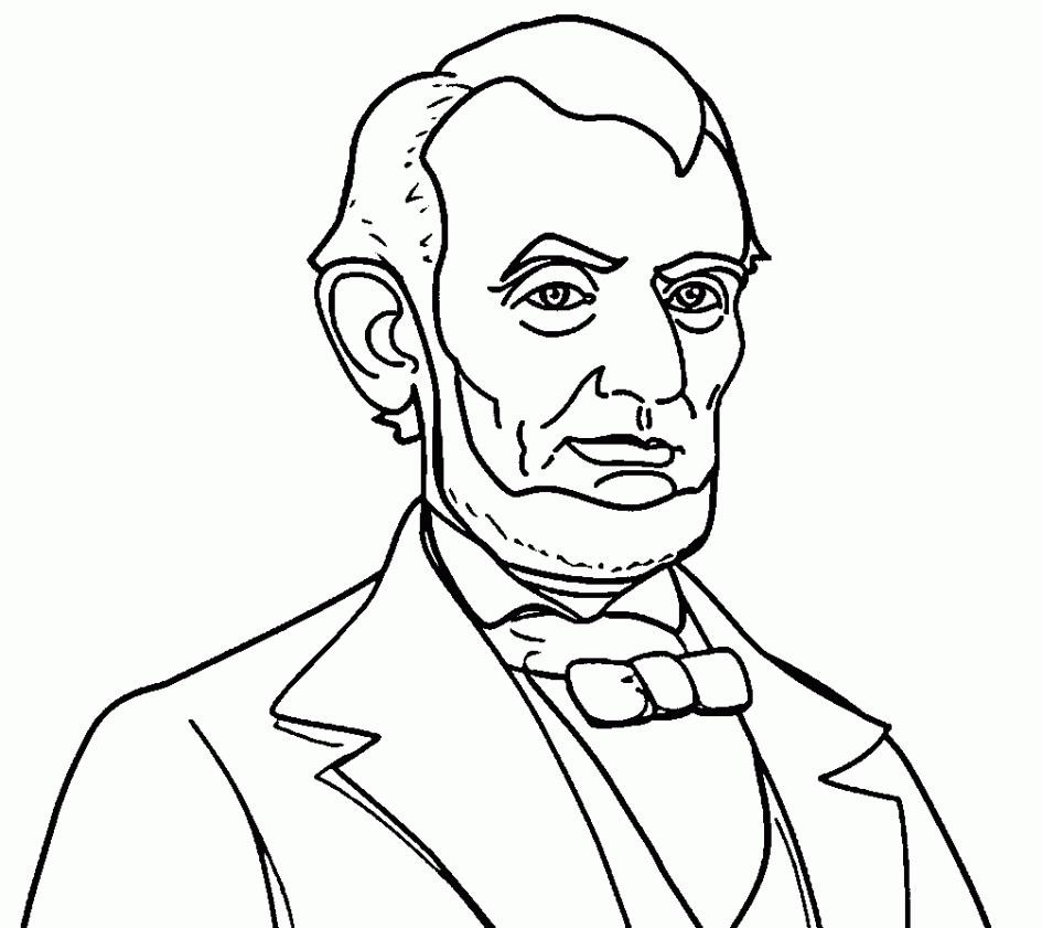 945x841 Nice Abraham Lincoln Coloring Page Pages For Kindergarten Best