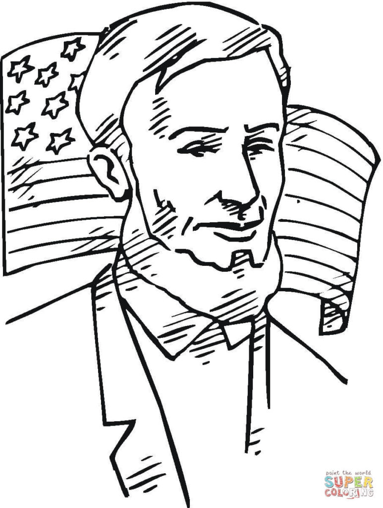 773x1024 Abraham Lincoln Coloring Page