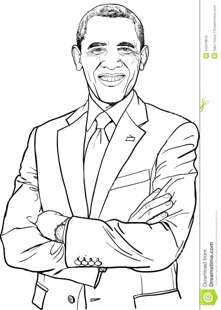732x1024 Barack Obama Coloring Pages Celebrations U S Presidents Day
