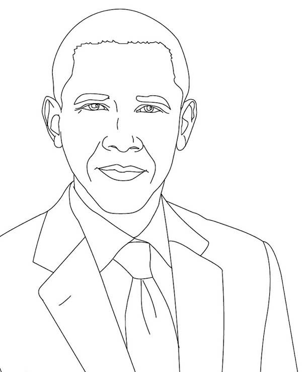 600x739 Chic Design Barack Obama Coloring Pages For Kids Printable