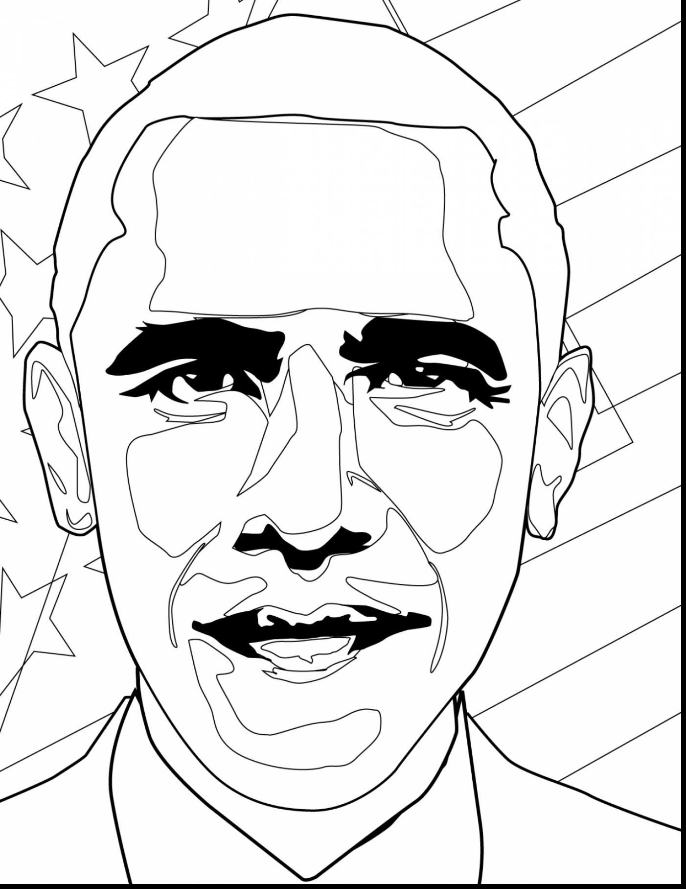 1402x1815 Lifetime President Obama Coloring Pages Free B