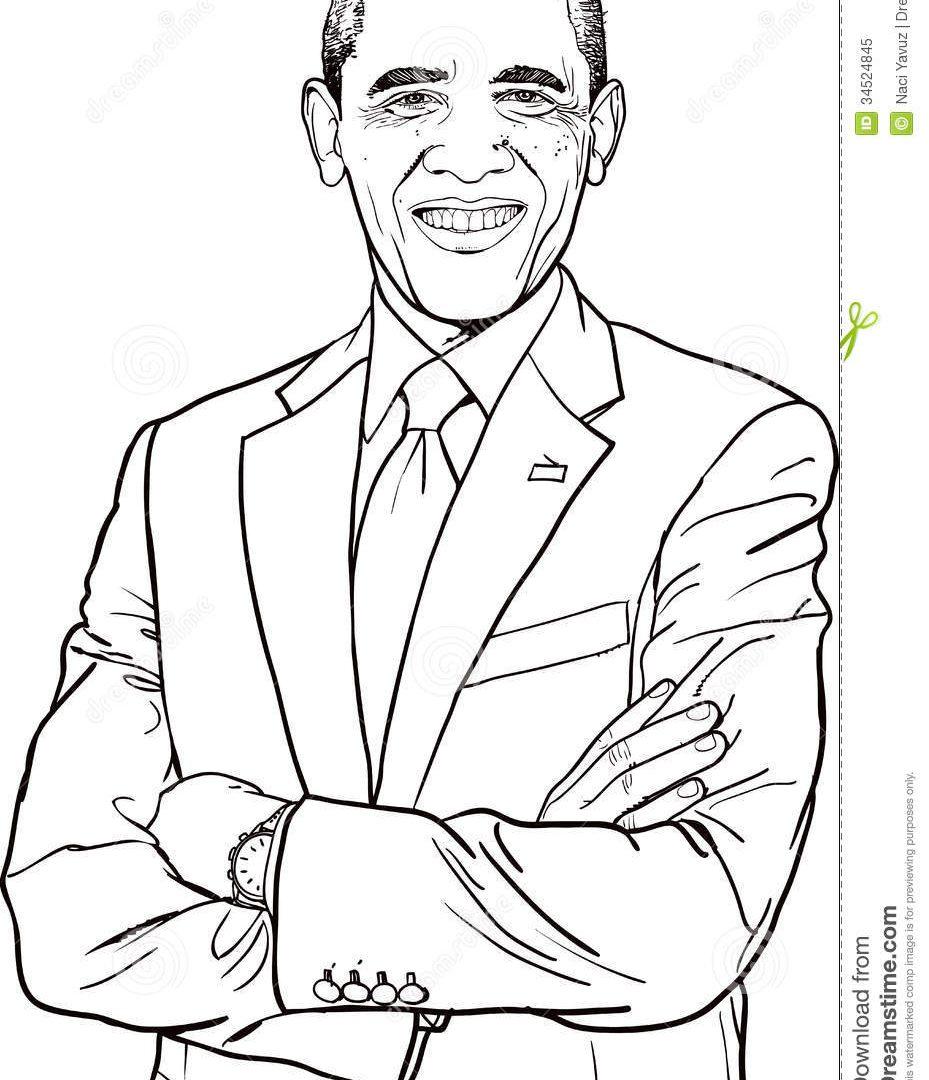 929x1080 Barack Obama Coloring Page Printable