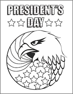 235x302 President's Day Coloring Page