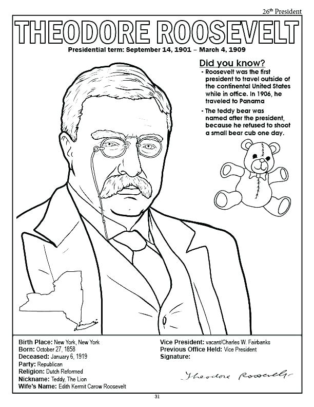 612x792 Presidents Coloring Pages Us Presidents Coloring Pages President