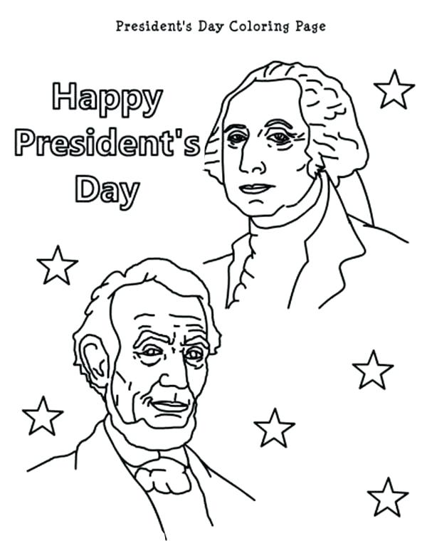 600x777 Presidents Day Coloring Pages Printable