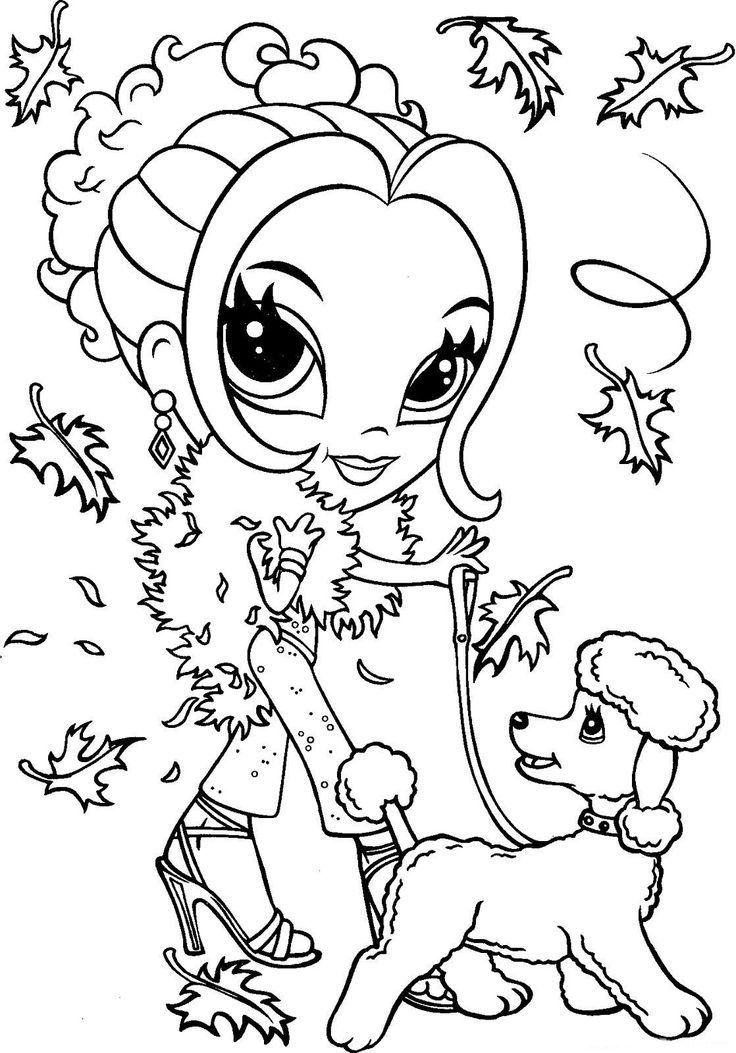 736x1053 Best Pretty Girls Coloring Pages Images