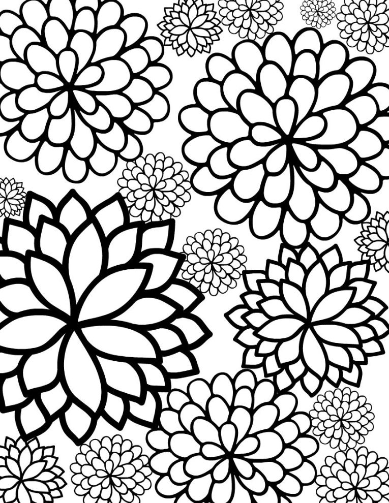 765x990 Pretty Coloring Pages Pretty Coloring Pages Detailed