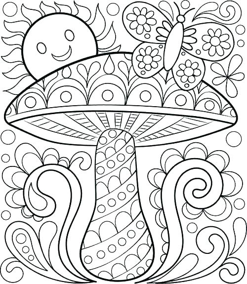 500x575 Pretty Coloring Pages