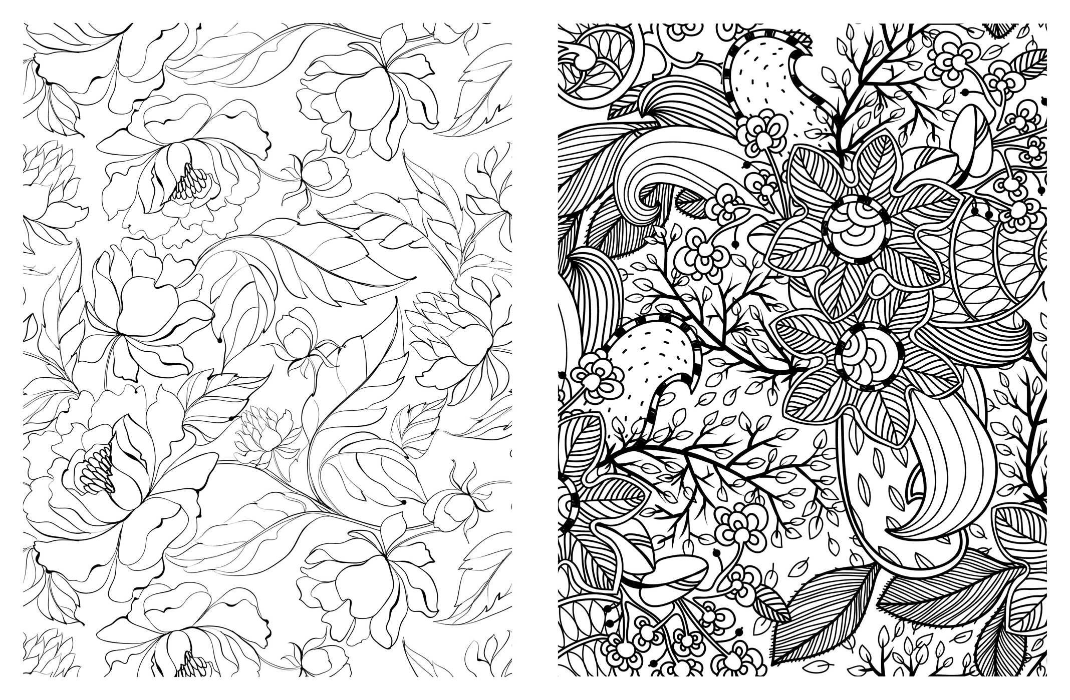 2136x1399 Beautiful Flowers Abstract Coloring Pages Colouring Adult Detailed