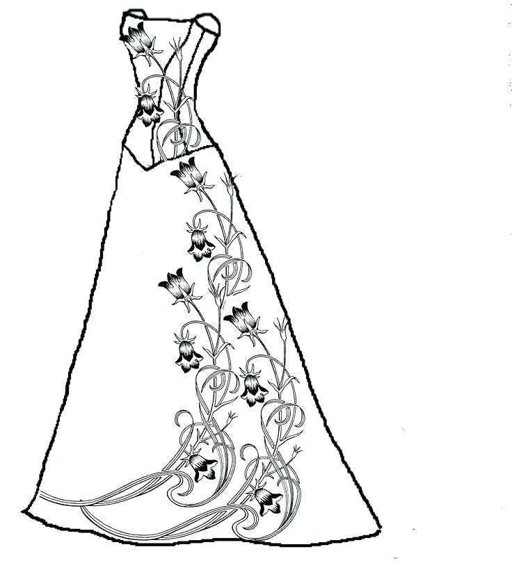 Pretty Dresses Coloring Pages