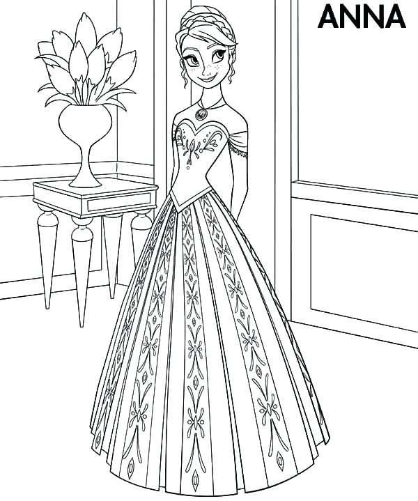 600x719 Dress Coloring Pages Little Girl Dress Coloring Page Dress Design