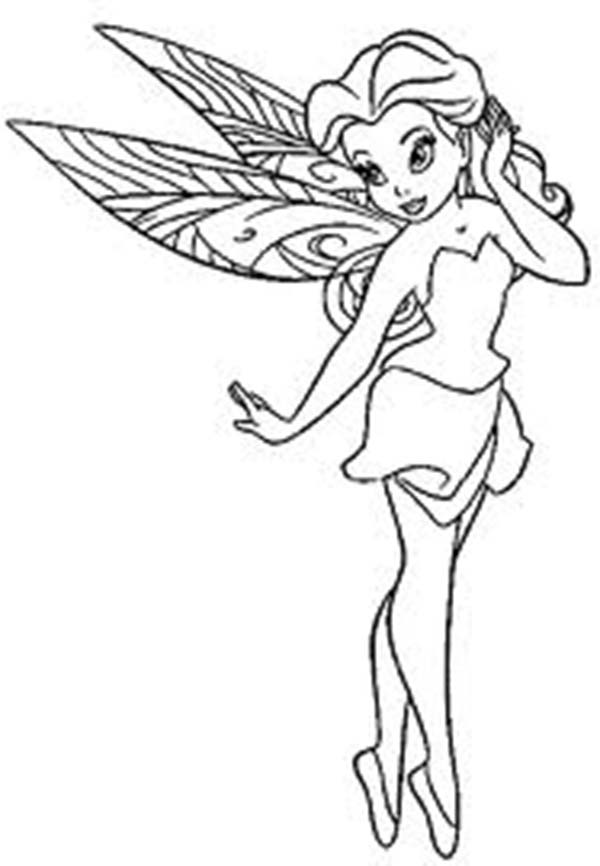Pretty Fairy Coloring Pages