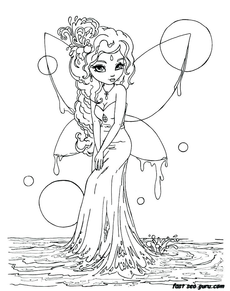 Pretty Fairy Coloring Pages At Getdrawings Com Free For Personal