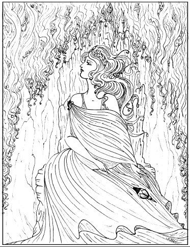 Pretty Girl Coloring Pages
