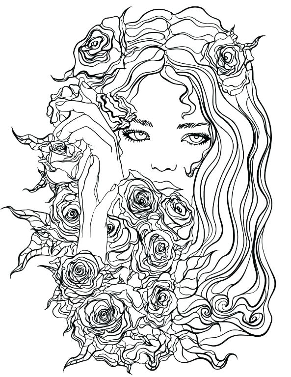 593x768 Pretty Girl Coloring Pages Pretty Girls Coloring Pages Pretty Girl