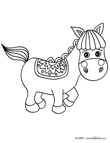 363x470 Cute Little Horse Coloring Pages