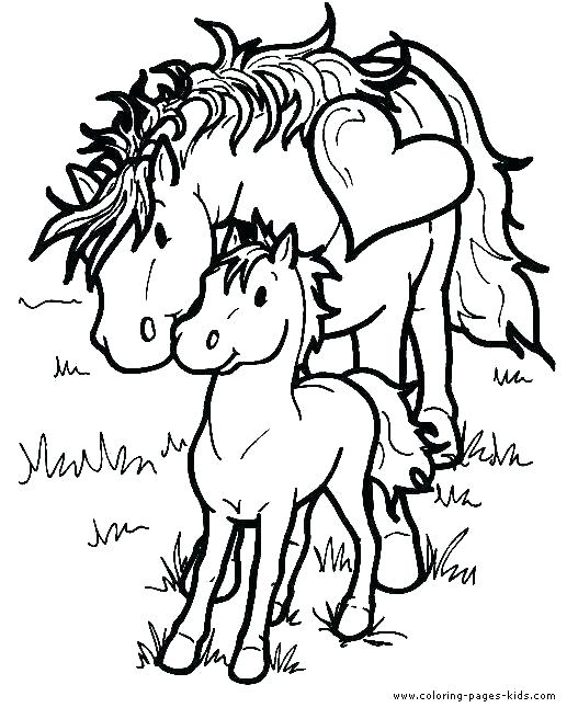527x656 Cute Horse Coloring Pages