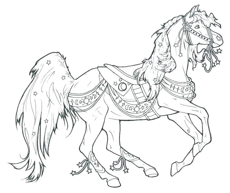 800x672 Printable Coloring Pages Horses