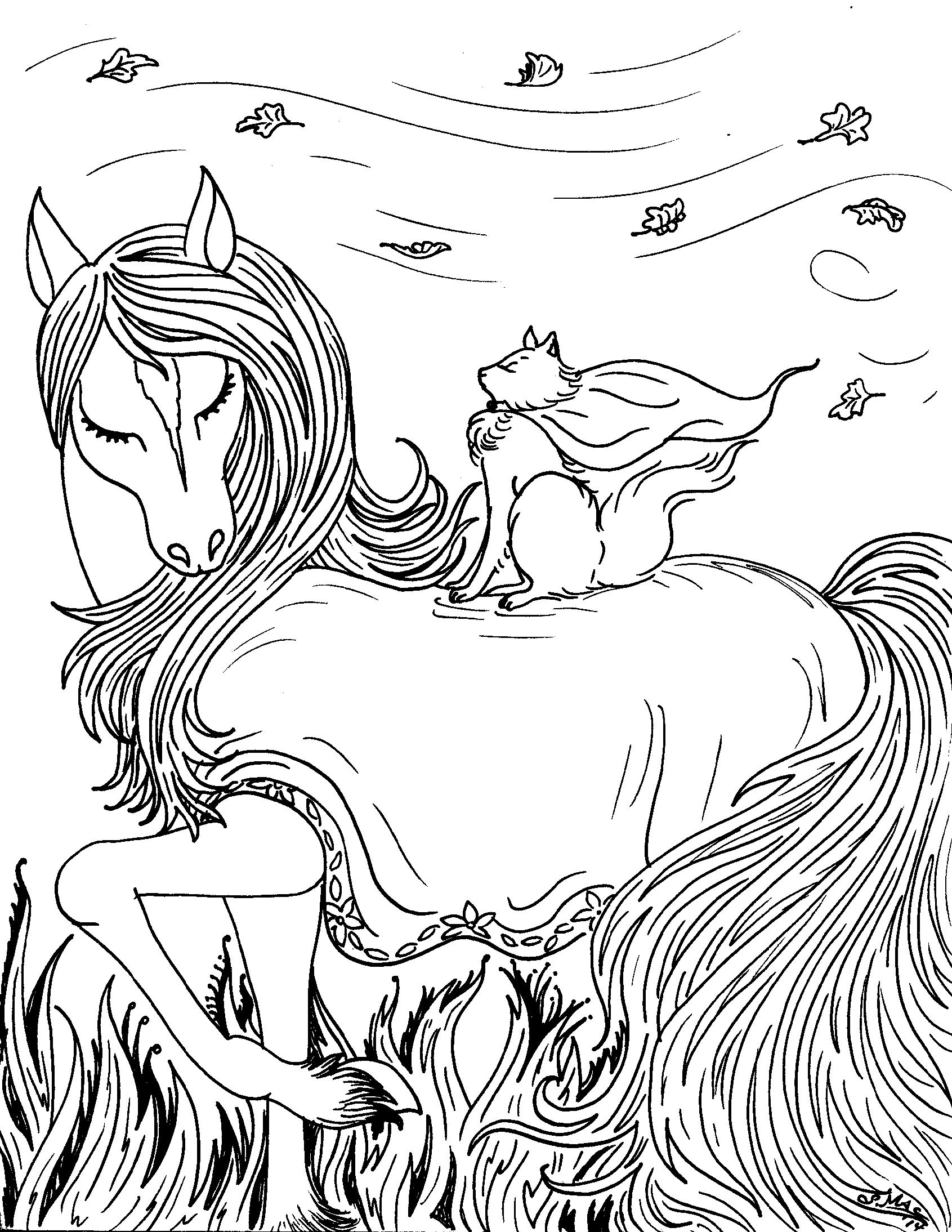 1691x2188 Awesome Free Printable Fantasy Coloring Pages For Kids Best