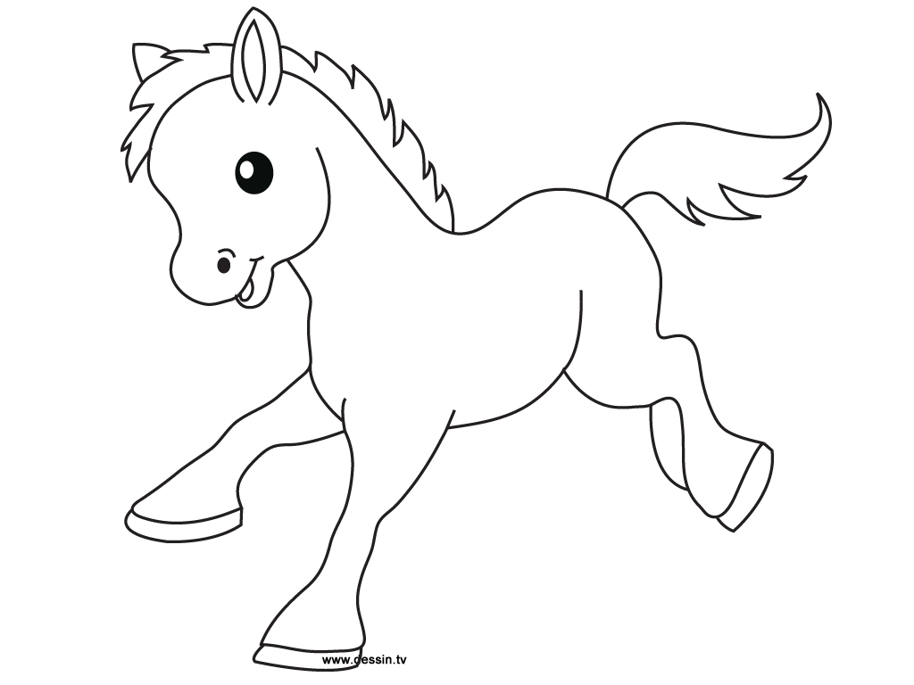 1024x768 Baby Horse Coloring Pages