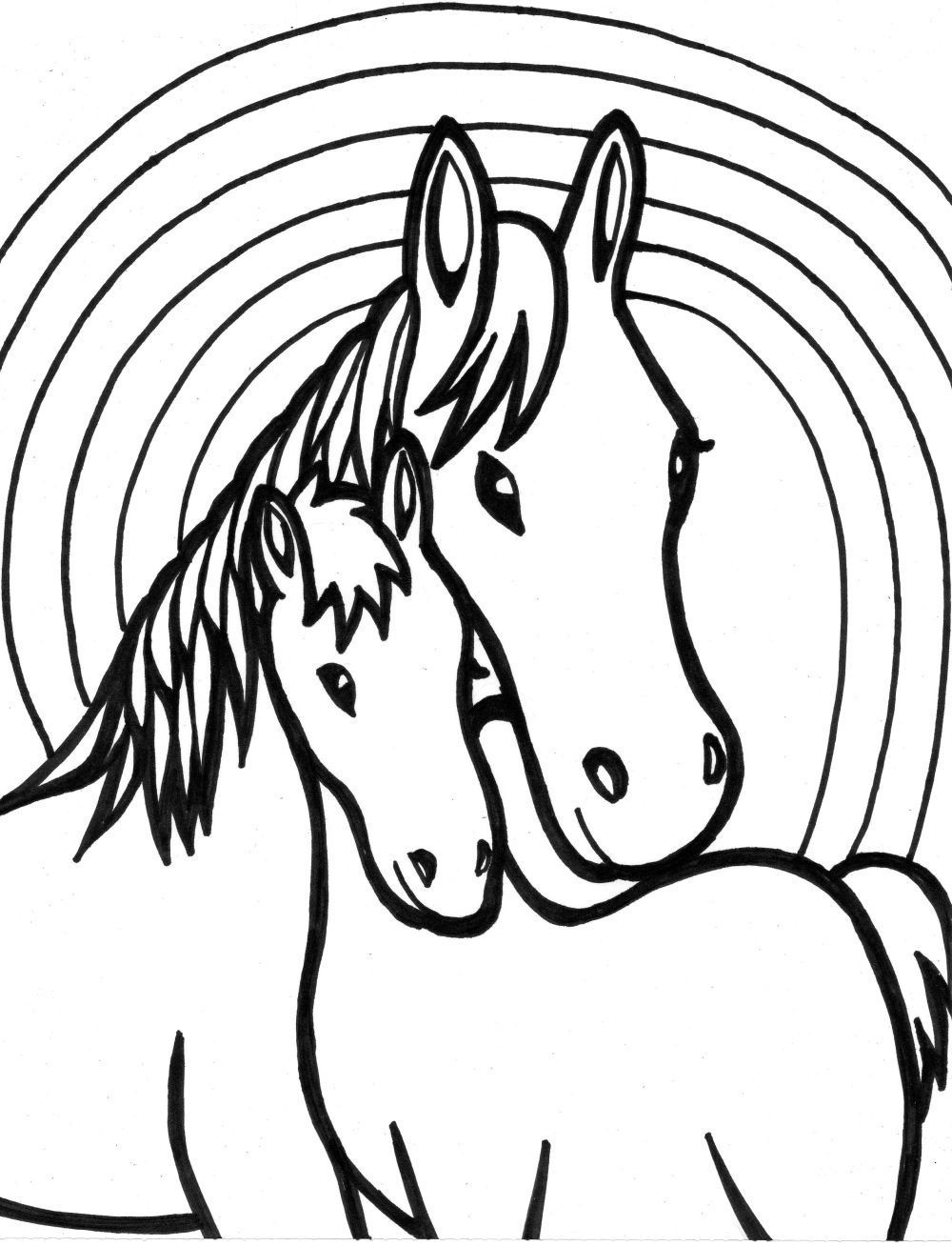 1000x1308 Baby Horse Coloring Pages Bebo Pandco With Cute Of Horses