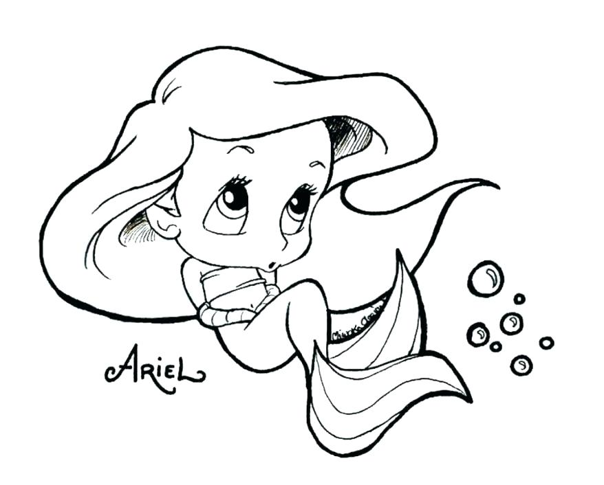 Pretty Mermaid Coloring Pages at GetDrawings | Free download