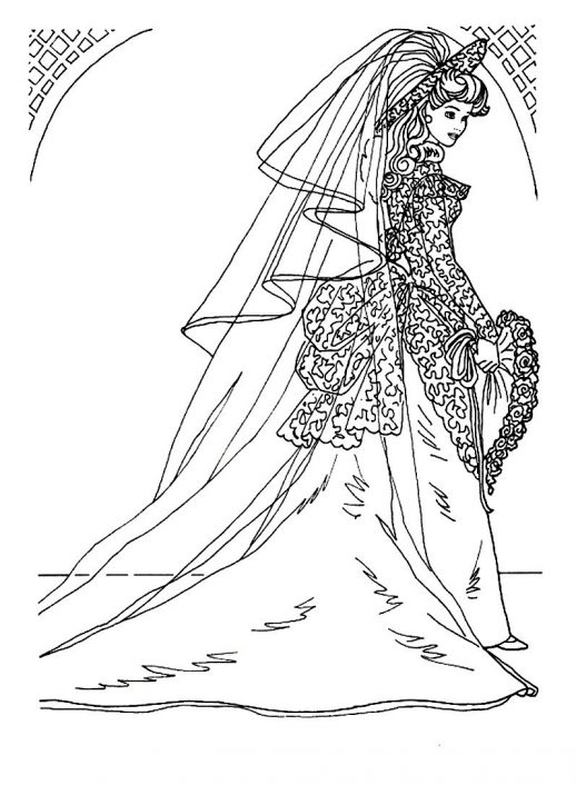 518x706 A Holy Wedding Of Prince And Princess Coloring Pages