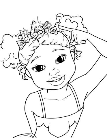 371x480 Black Girl Coloring Pages Im A Pretty Princess Free Coloring Pages