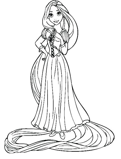 486x638 Rapunzel Coloring Page Luxury Coloring Pages For Beautiful