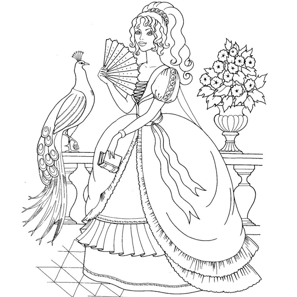 1024x1024 Barbie Princess Coloring Book Scott Fay Princess Coloring