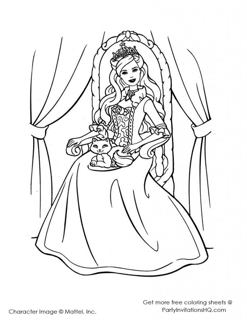 791x1024 Pretty Princess Coloring Pages Printable