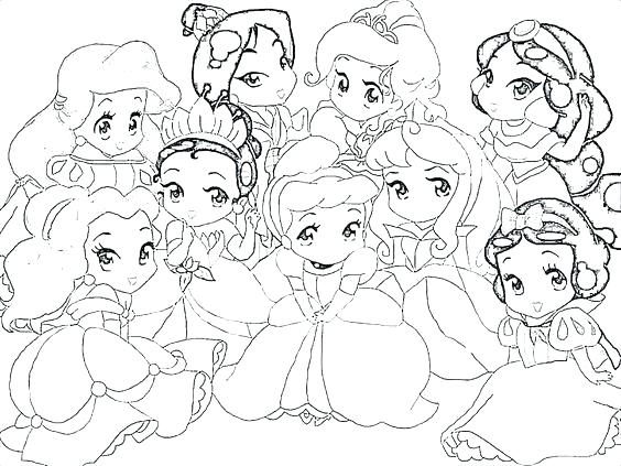 564x423 Pretty Princess Coloring Pages