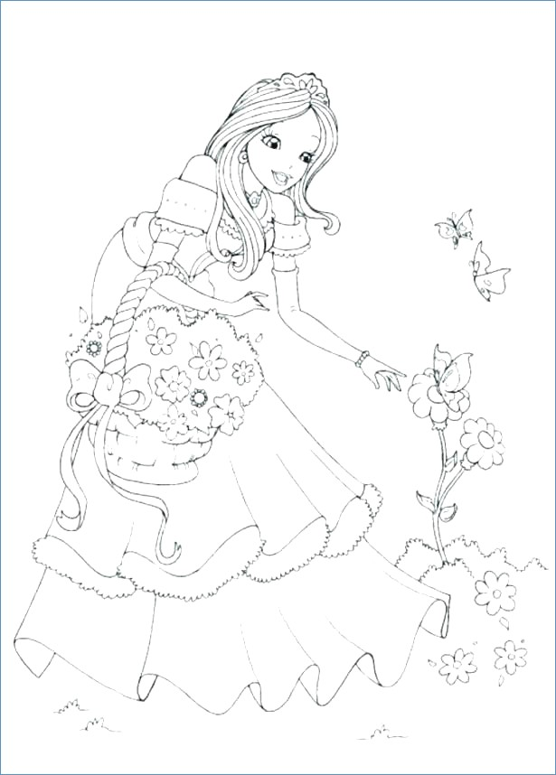 615x858 Beautiful Princess Jasmine Coloring Pages