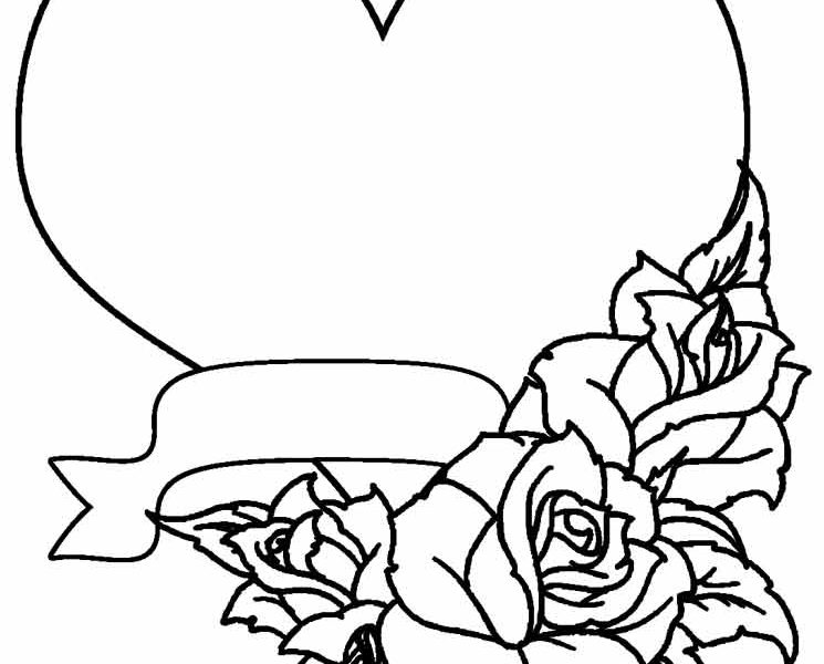 Pretty Rose Coloring Pages