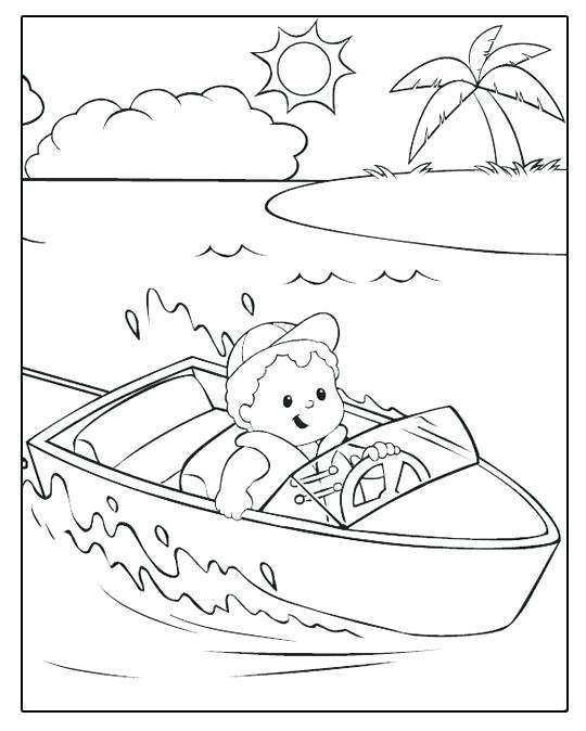 540x674 Fisher Price Boat Ride Fisher Price Coloring Pages Fisher Price