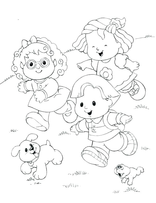 600x780 Fisher Price Coloring Pages Little People Coloring Little People
