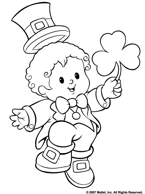 574x764 Free St Paddy's Day Coloring Pages From Fisher Price