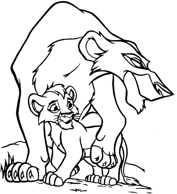 600x658 Lion King Coloring Pages Lion King Simbas Pride Coloring Pages