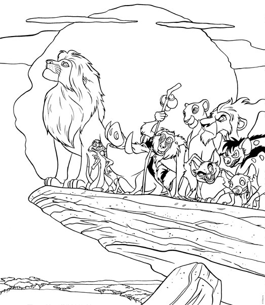 523x601 Lion King Pride Rock Coloring Pages Free