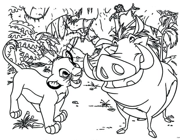 600x467 Baby Simba Lion King Coloring Pages Pride Fun Site Become The Page